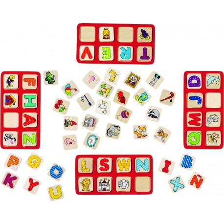 """Jeu en bois - """"Mon jeu d'Alphabet"""" - 110 élèments"""