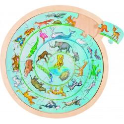 Puzzle rond - La ronde des animaux