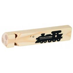 "Sifflet train en bois - ""Locomotive"""