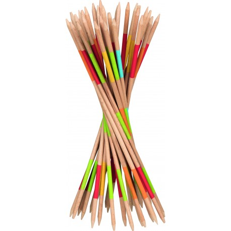 Mikado en bois coloré - H: 27 cm