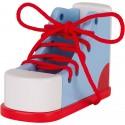 Chaussure à lacer en bois - 16,5x10,3x7,1cm - GOKI - 3 ans