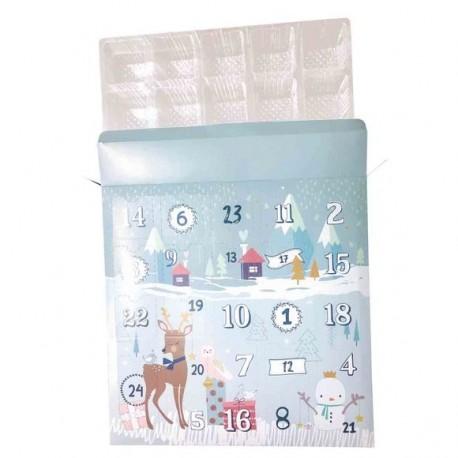 Calendrier de l'avent rempli de 25 jouets- Réutilisable