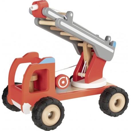 Camion pompier en bois avec échelle