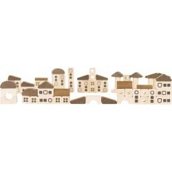 Jeu de construction en bois naturel - La grande ville - 2 ans