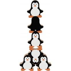 Jeu d'adresse en bois- Les Pingouins