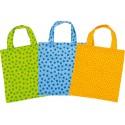Lots de 3 sacs en coton pour jouer à l'épicier - 3 couleurs assorties - 3 ans
