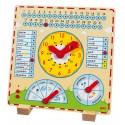 Horloge - Calendrier en bois
