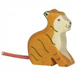 Holztiger - Petit Tigre Assis en Bois