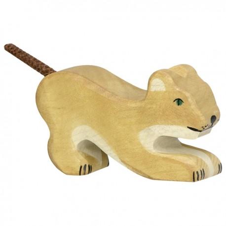 Holtztiger - Petit Lion Jouant en Bois