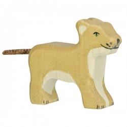 Holtztiger - Petit Lion Debout en Bois