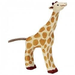 Holztiger - Petite Girafe Mangeant en Bois