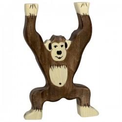 Holztiger - Chimpanzé Debout en Bois