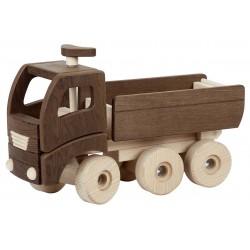 Camion-benne en bois naturel - 3 ans