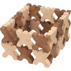 Jeu d'adresse en bois naturel- Les bonhommes en X- 48 éléments