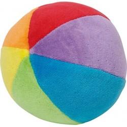 Balle en velours colorée avec grelots - Naissance