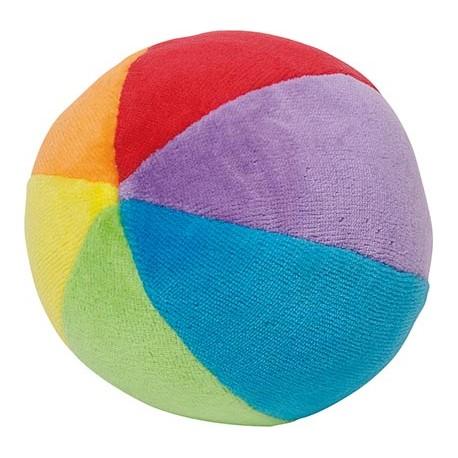 Balle en velours colorée avec grelots