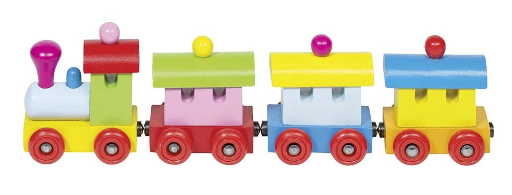 Train en bois magnétique 25 cm GOKI Modèle Sofia 2 ans